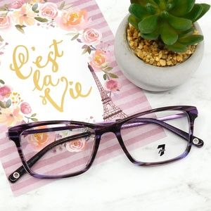 """7 FOR ALL MANKIND """"Redwood"""" Purple Marble Eyeglass"""